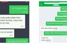 7 Chat kocak pelanggan ojek online kelewat narsis bikin geleng kepala