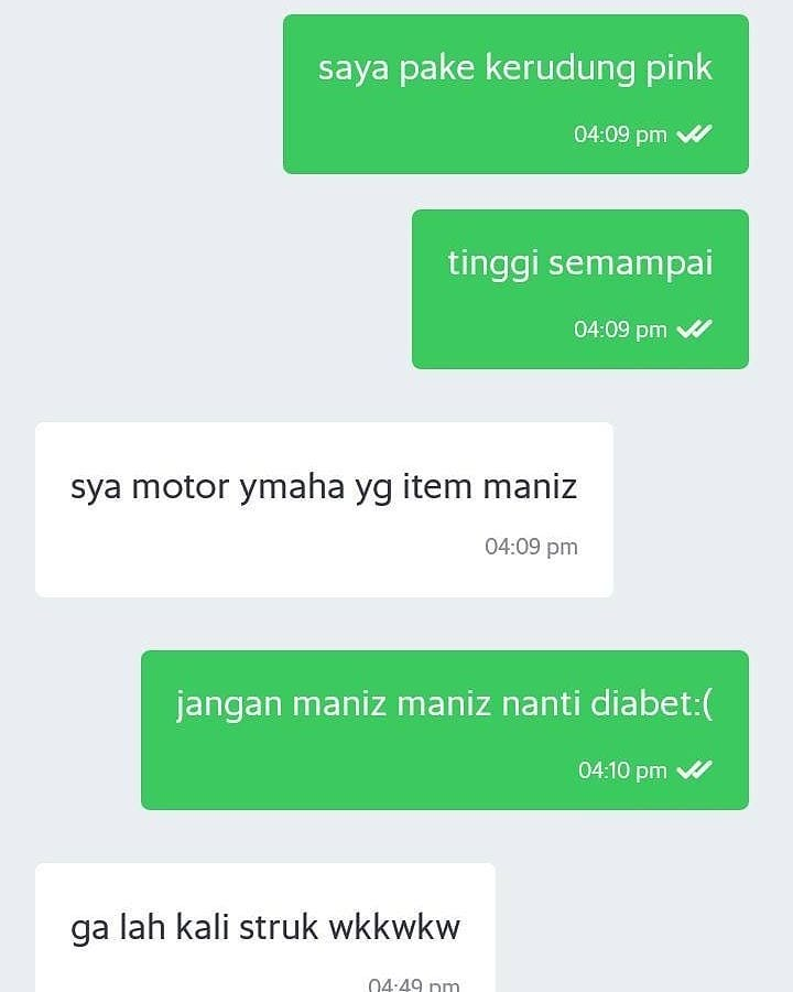 chat lucu ojol © 2018 berbagai sumber