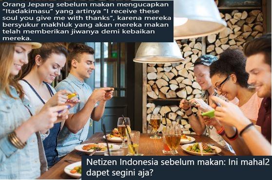 10 Beda orang Jepang vs Indonesia mau makan ini bikin nyengir setuju