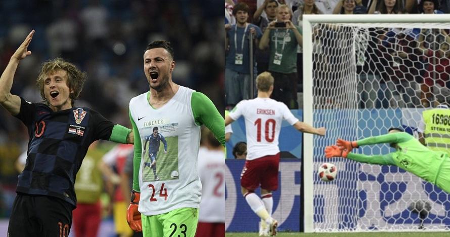 Kisah haru di balik kaus selebrasi kiper penggagal 3 penalti Denmark
