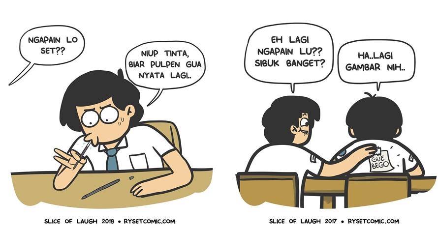 10 Komik strip kehidupan waktu sekolah ini bikin ngakak nostalgia