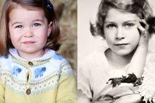 7 Bukti Charlotte disebut mirip dengan Ratu Elizabeth II saat kecil