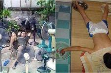 8 Tingkah konyol dinginkan tubuh saat cuaca panas, jangan ditiru ya