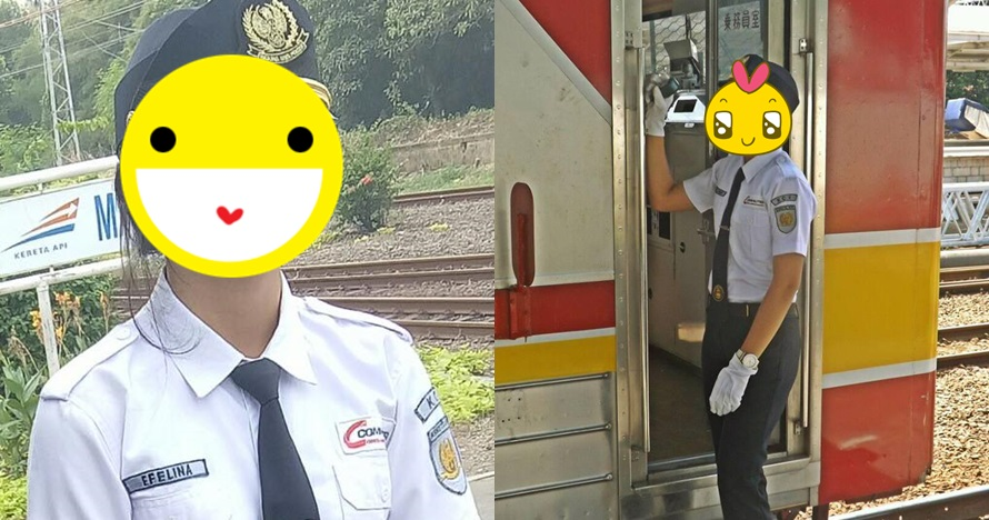 Petugas KRL ini cantiknya bikin heboh, suka lempar senyum ke penumpang
