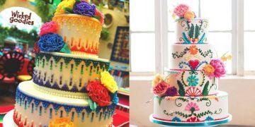 10 Kreasi cake ala bordir Meksiko ini detailnya cantik dan penuh warna