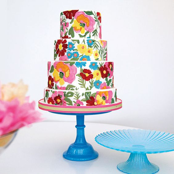 cake ala bordir Meksiko © 2018 Pinterest