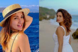 10 Potret Tengku Dewi Putri saat liburan di pantai, bikin susah kedip