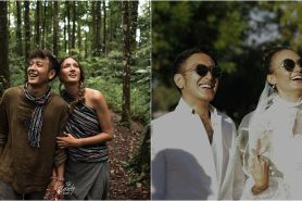 Momen hangat 8 seleb hadiri pernikahan Nadine dan Dimas Anggara