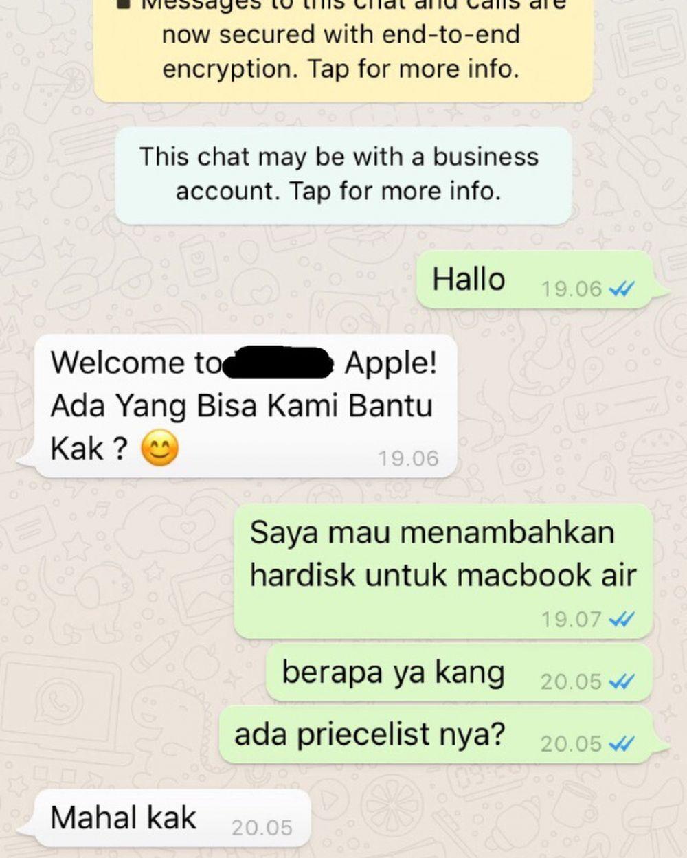 chat penjual olshop © 2018 berbagai sumber