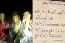 Masih terjebak dalam gua, isi surat remaja Thailand ini bikin terharu