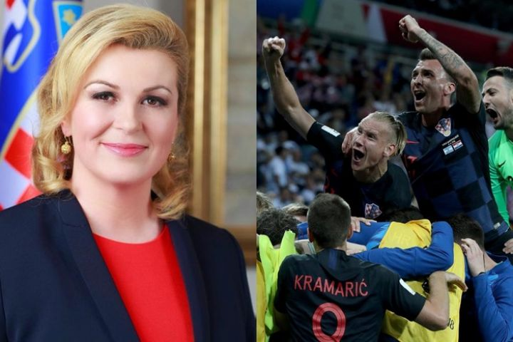 7 Gaya Presiden cantik Kroasia saat dukung negaranya di Piala Dunia