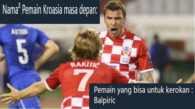 10 Tebak-tebakan ngawur nama pemain Kroasia masa depan ini menggelitik