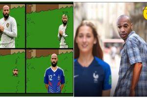 10 Meme perasaan Thierry Henry lihat Belgia kalah, kocaknya nampol