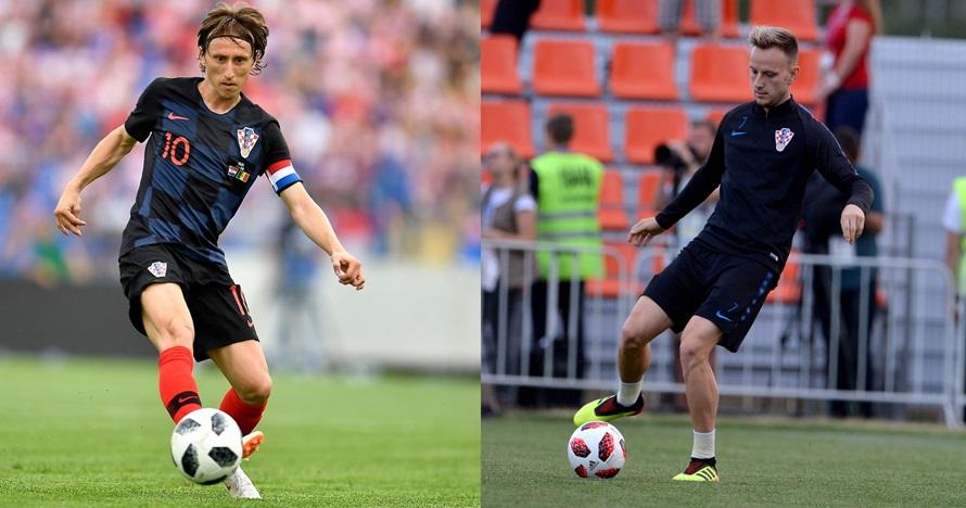 Beda gaya Luka Modric & Ivan Rakitic habiskan waktu bareng keluarga