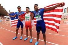 Juara dunia lari 100 M, ini momen Zohri kesulitan cari Merah Putih