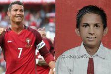 7 Editan foto pesepak bola dunia kalau sekolah di Indonesia, kocak pol