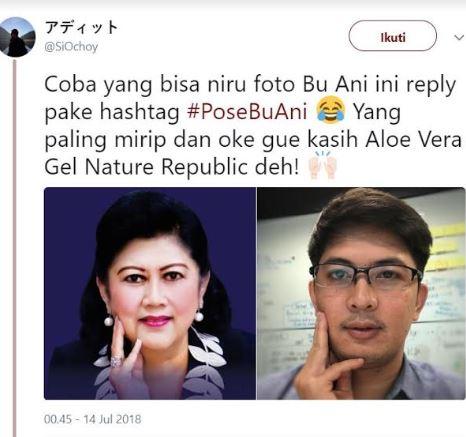 pose cantik ani yudhoyono istimewa