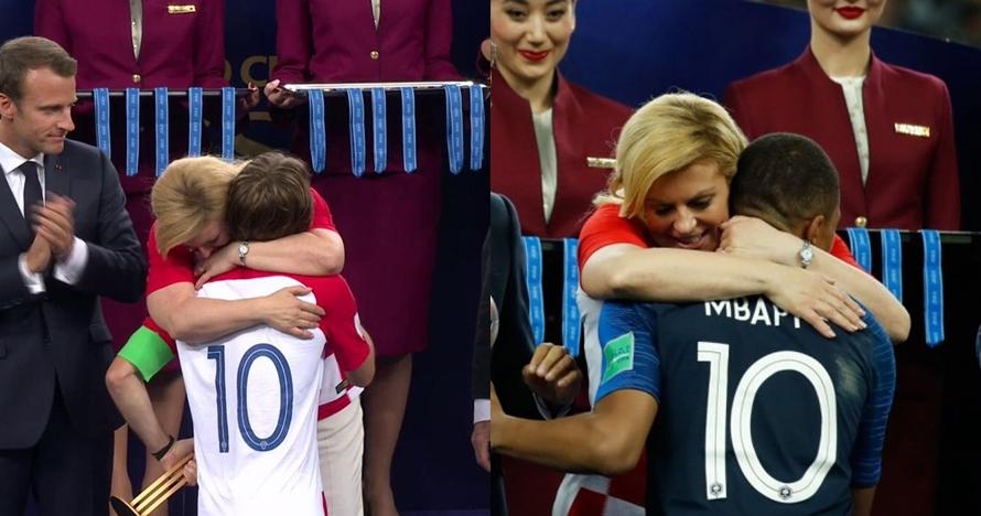 Presiden Kroasia peluk semua orang saat pengalungan medali, sweet abis