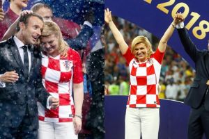10 Momen akrab Presiden Prancis & Presiden Kroasia ini curi perhatian