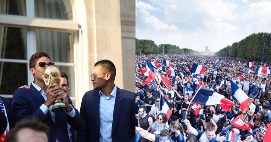 10 Potret parade Prancis juara Piala Dunia, seru dan penuh semarak