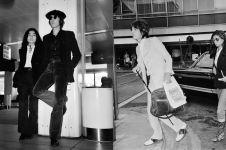 10 Gaya airport look seleb Hollywood di tahun 70-an, jarang terungkap