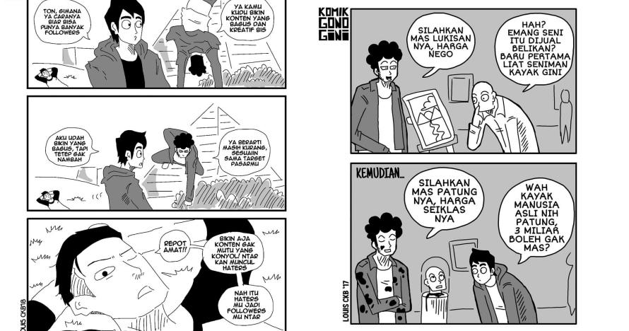 15 Komik strip 'gono-gini' ini kocak & nyidirnya ngena banget
