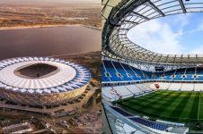 Stadion Piala Dunia di Rusia rusak dihantam hujan, ini penampakannya