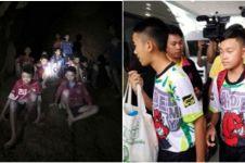 Pertama & terakhir kalinya, 13 orang terjebak di gua bertemu media