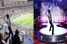 9 Editan foto Presiden Macron rayakan kemenangan Prancis ini kocak pol
