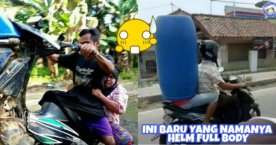 8 Aksi berkendara ini cuma ada di Indonesia, konyol banget