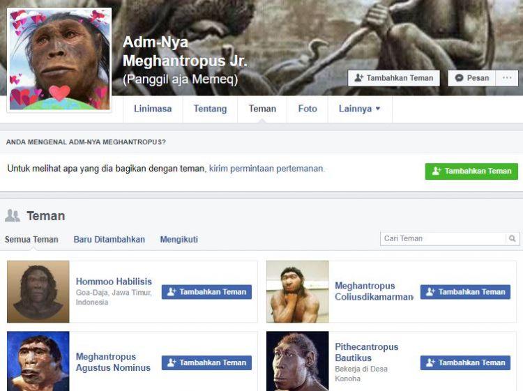 Begini kocaknya jika 10 manusia purba punya akun di media sosial