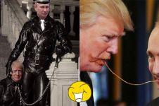10 Editan foto 'Trump akrab sama Putin' ini konyolnya keterlaluan