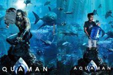 8 Pelesetan poster film Aquaman ini kocaknya bikin ngakak sampai basah