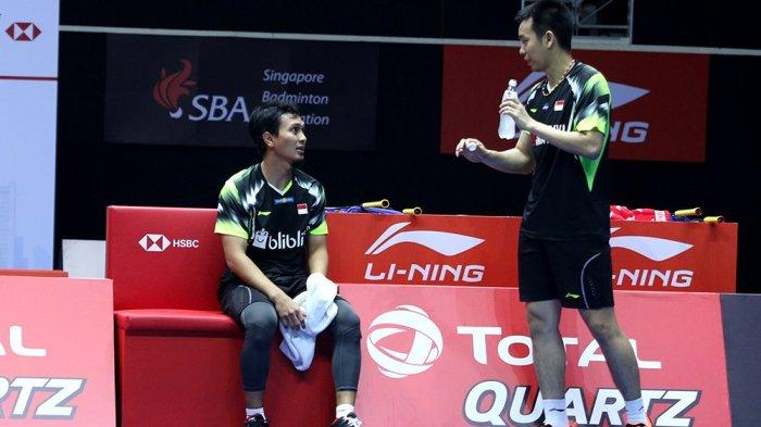Pasangan legenda Ahsan/Hendra rebut juara Singapura Open 2018, selamat