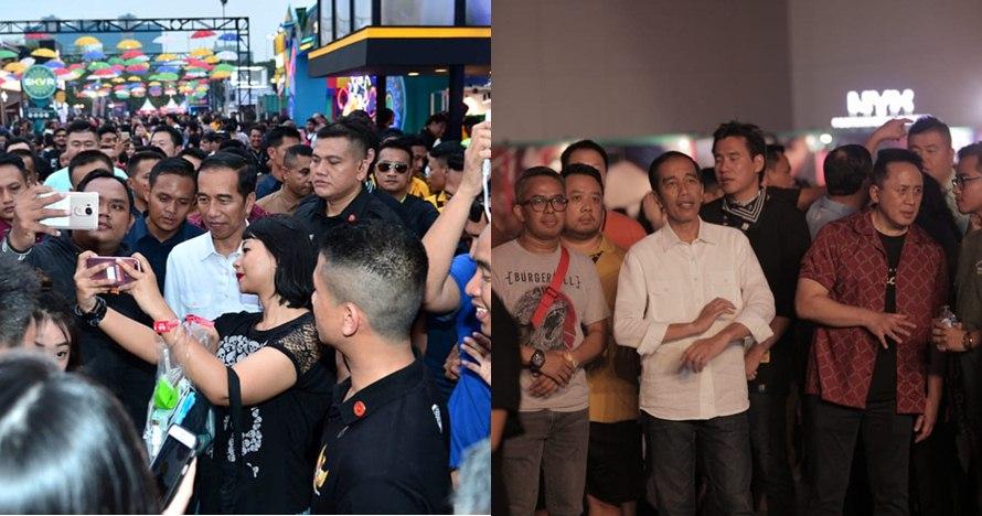 9 Potret Jokowi saat hadiri We The Fest, santai kenakan celana jeans