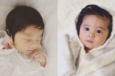 Usia 6 bulan, 10 potret bayi berambut lebat ini bikin pengen menimang
