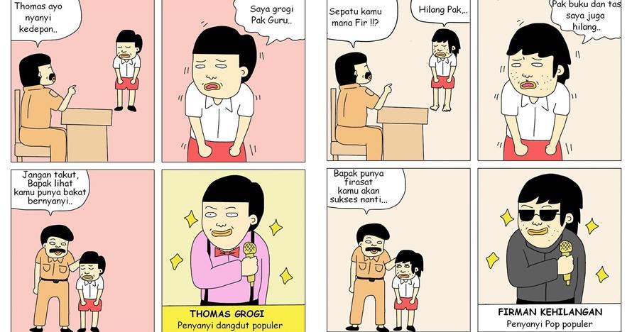 7 Komik strip masa depan siswa prediksi guru, bikin kaget lalu ngakak