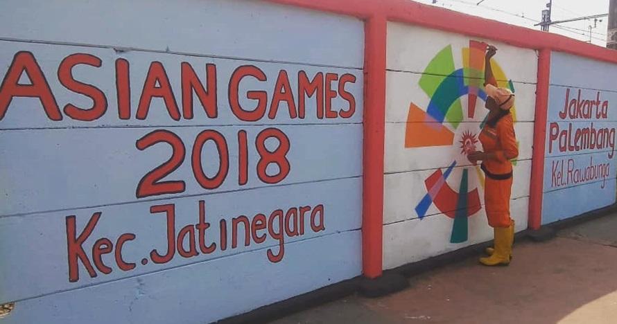 Ikut sambut Asian Games, ini 10 potret mural kece karya Pasukan Oranye
