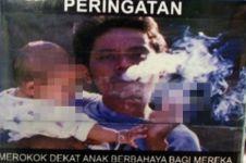Ini kisah mengejutkan di balik pria yang gendong anak di bungkus rokok