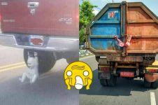 8 Benda tersangkut kendaraan ini bikin ngakak sambil mikir keras