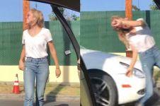 Heboh video wanita ditabrak mobil saat lakukan challenge, ini faktanya