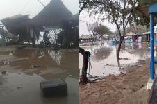 7 Video detik-detik ombak setinggi 7 meter terjang pesisir Jogja