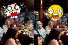 Bikin merinding, penampakan seram terekam video saat acara makan-makan