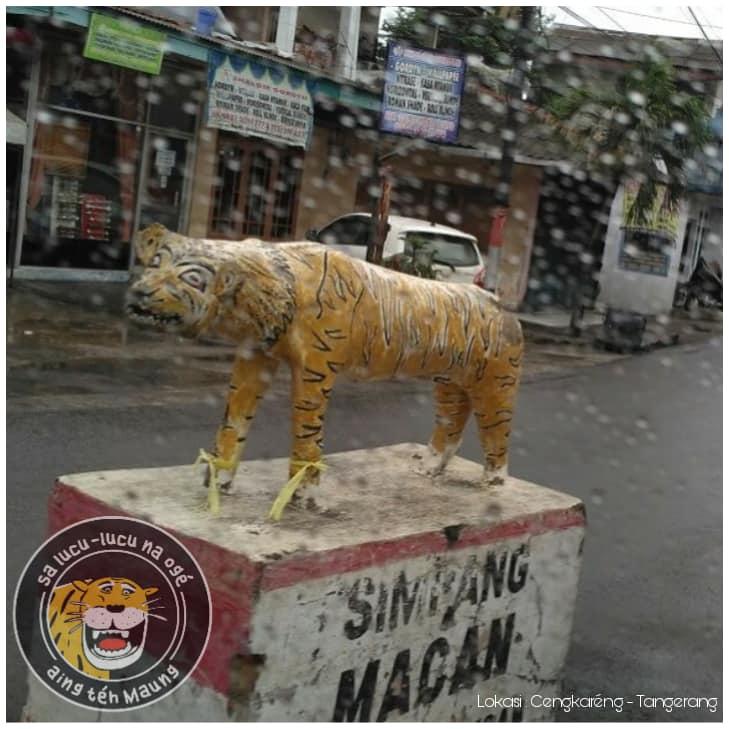 patung macan nyentrik © Facebook/Mang Iki