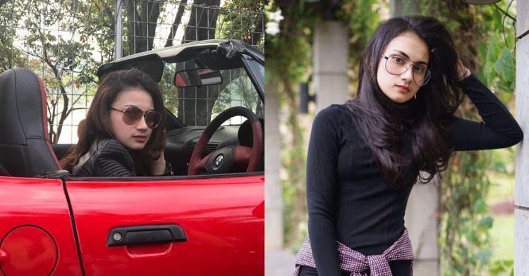 10 Pesona Raisya Bawazier, si Drakula cantik yang gemar pakai kacamata