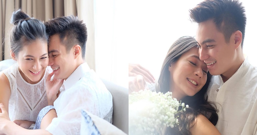 5 Kemesraan Baim Wong & Paula saat photoshoot serba biru, so sweet