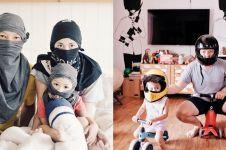 Dari ninja hingga pembalap, ini 5 kostum kocak keluarga Ringgo Agus