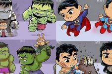 Begini kocaknya jika 10 superhero berubah jadi kerdil, gagal sangar