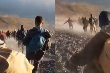 Detik-detik kepanikan pendaki Rinjani saat terjadi gempa 6,4 SR