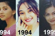 10 Potret perubahan wajah seleb Tanah Air saat tahun 90-an dan 2018
